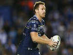 MICHAEL MORGAN of the Cowboys runs the ball during the NRL match between the Canterbury Bulldogs and the North Queensland Cowboys at Belmore Sports Ground in Sydney, Australia.