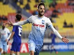 MILOS NINKOVIC of Sydney FC celebrates scoring the opening goal during the AFC Champions League match between Suwon Samsung Bluewings and Sydney FC at Suwon World Cup Stadium in Suwon, South Korea.