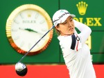 MINJEE LEE of Australia plays her shot from the first tee during the HSBC Women's World Championship at Sentosa Golf Club in Singapore.