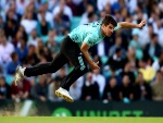 MOISES HENRIQUES of Surrey bowls during the NatWest T20 Blast match between Surrey and Glamorgan at The Kia Oval in London, England.
