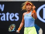 NAOMI OSAKA of Japan celebrates winning a point against Ashleigh Barty of Australia of the 2018 Australian Open at Melbourne Park in Australia.