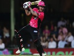 NIC MADDINSON of the Sixers bats during the Big Bash League match between the Sydney Sixers and the Melbourne Stars at SCG in Sydney, Australia.