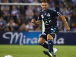 NICK ANSELL of Melbourne Victory releases the ball during the A-League match between Melbourne Victory and Sydney FC at ES in Melbourne, Australia.
