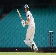 NICK LARKIN of the Blues bats during the Sheffield Shield match between New South Wales and South Australia in Sydney, Australia.