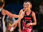 Renae Ingles of the Thunderbirds reacts after the round six Super Netball match between the Thunderbirds and the Firebirds at Titanium Security Arena in Adelaide, Australia.