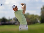 RORY MCILROY of Northern Ireland plays a shot from a bunker on the first hole during the final round at the Arnold Palmer Invitational Presented By MasterCard at Bay Hill Club and Lodge in Orlando, Florida.