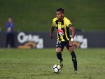 ROY KRISHNA of the Phoenix makes a break during the A-League match between the Wellington Phoenix and Melbourne City FC at QBE Stadium in Auckland, New Zealand.
