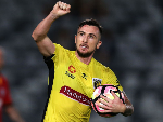 ROY O'DONOVAN of the Mariners celebrates a goal during the A-League match between Central Coast Mariners and Adelaide United at Central Coast Stadium in Gosford, Australia.