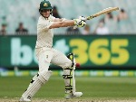 STEVE SMITH of Australia hits the ball to make his century during the Fourth Test Match in the 2017/18 Ashes series between Australia and England at MCG in Melbourne, Australia.