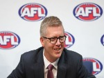 AFL General Manager Football Operations STEVEN HOCKING addresses the media after Steve Hocking was announced as the new AFL General Manager of Football Operations at AFL House in Melbourne, Australia.