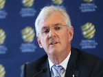 FFA Chairman STEVEN LOWY speaks to the media during a press conference at FFA Headquarters in Sydney, Australia.