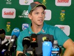 TIM PAINE of Australia during the 4th Sunfoil Test match between South Africa and Australia at Bidvest Wanderers Stadium in Johannesburg, South Africa.