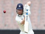TRAVIS DEAN of Victoria bats during the Sheffield Shield match between Victoria and South Australia at the MCG in Melbourne, Australia.