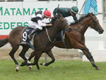 Aretha winning the J Swap Matamata Breeders Stks