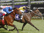 In Her Time wins the Lightning Stakes