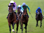 Magna Grecia winning the Qipco 2000 Guineas Stakes (Group 1)