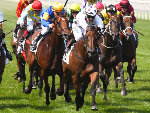 SUNLIGHT winning the Seppelt Wines Newmarket Hcp during Melbourne Racing at Flemington in Melbourne, Australia.