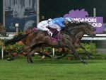 Top Knight winning the SINGAPORE 3YO CLASSIC