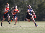 Vic Metro's Abbie Mckay in action during the AFLW U18 Championships match between Vic Metro v Central Allies at Bond University in Gold Coast, Australia.