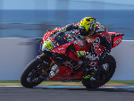 ALVARO BAUTISTA of Spain heads down a straight during the 2019 World Superbikes Tests at Phillip Island Grand Prix Circuit in Phillip Island, Australia.