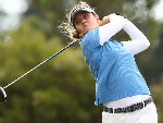 HANNAH GREEN of Australia plays a shot during the ISPS Handa Vic Open at 13th Beach Golf Club in Geelong, Australia.