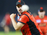 JON HOLLAND bowls during the Melbourne Renegades Big Bash League Team Photo Session in Melbourne, Australia.