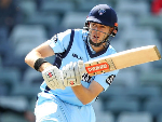 KURTIS PATTERSON of NSW bats during the JLT Cup match between Western Australia and New South Wales in Perth, Australia.