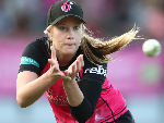 LAUREN CHEATLE of the Sixers warms up before the Women's Big Bash League match between the Sydney Sixers and the Sydney Thunder at North Sydney Oval in Sydney, Australia.