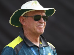 Australian selector TREVOR HOHNS looks on ahead of the One Day International series between India and Australia at Rajiv Gandhi International Cricket Stadium in Hyderabad, India.