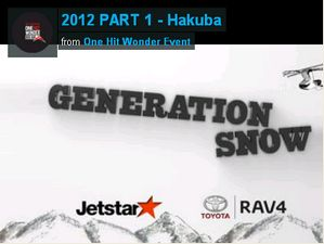 Generation Snow 2012 Chapter 1 - Hakuba