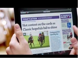 Racing Post Ipad App Tv Advert