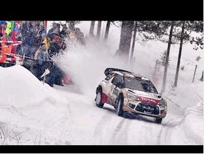 Rallying On Snowy Roads In Sweden - Fia World Rally Championship 2015
